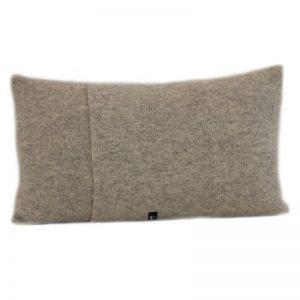 janie knitted textile merino wool cushion grey back