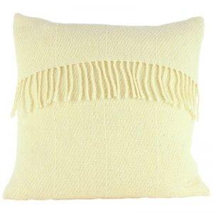 Romney Marsh Wool cushion cushion with cream fringe