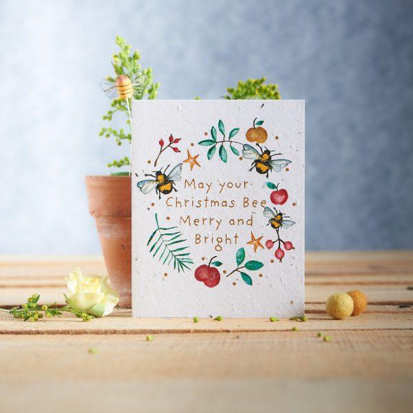 Hannah Marchant christmas bee seasonal christmas card