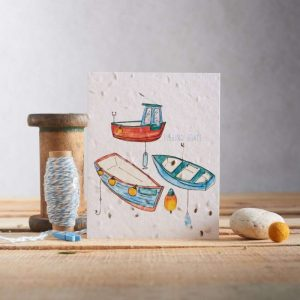 Hannah Marchant everyday plantable seed card, boats