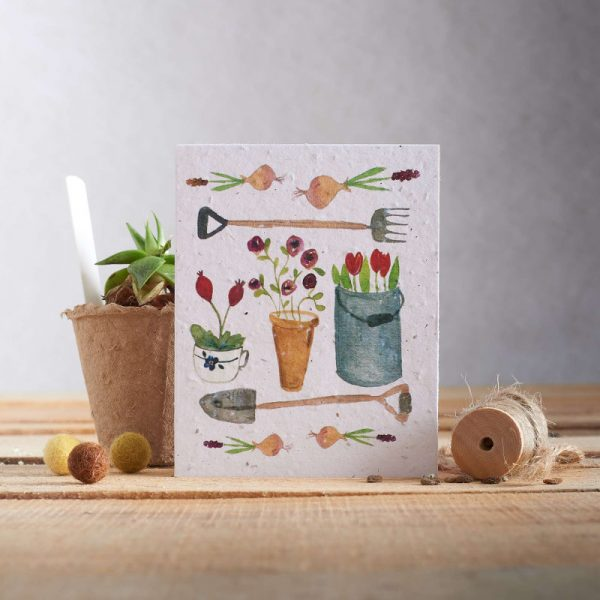 Hannah Marchant everyday plantable seed card, gardening