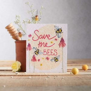 Hannah Marchant everyday plantable seed card, save the bees