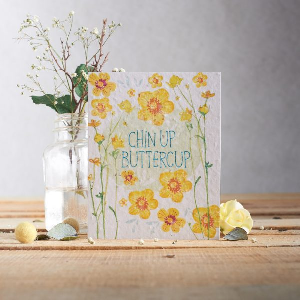 Hannah Marchant chin up buttercup occasion card