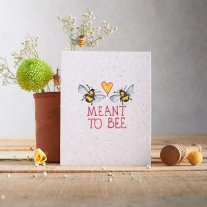 Hannah Marchant meant to bee seasonal valentine card