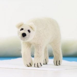 felting kit white polar bear