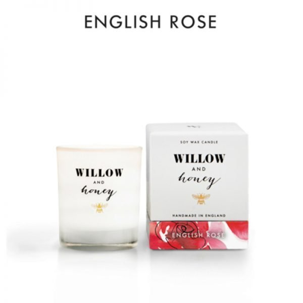 candle fragrance english rose in white box