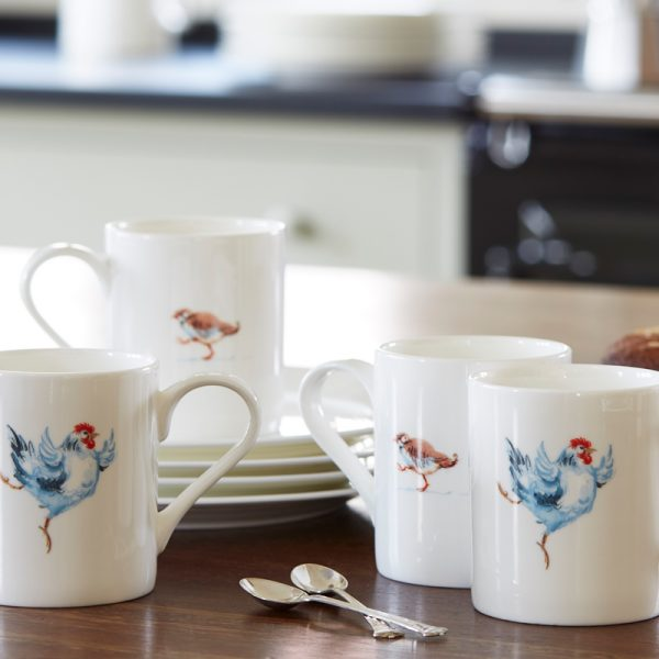 China Mug illustrated with a blue chicken