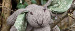 brown knitted rabbit