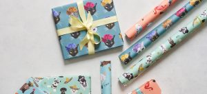A selection of wrap both rolled and wrapped presents - panoramic image