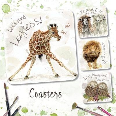 a range of coasters displaying part of the endangered animal range from Sweet Design