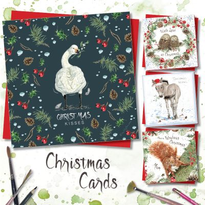 Christmas cards featuring endangered animals from Sweet Design range
